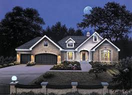traditional style house plan 87339 with