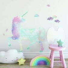 Glittery Galaxy Unicorn Giant Wall Decals Rainbow Clouds Kid Room Decor Stickers For Sale Online