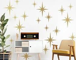 Retro Atomic Shapes Vintage Decor Wall Decal Custom Vinyl Etsy In 2020 Vinyl Wall Vinyl Wall Decals Wall Decals