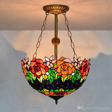 lamp vintage stained glass pendant