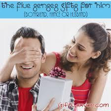five senses gifts for him boyfriend