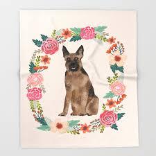 german shepherd dog fl wreath dog