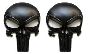 Fixxxer Llc Parts And Accessories Premium Matte Black 3d Metal Decal Sticker 2 Pack Tactical Skull For Gun Magazine Car Truck Motorcycle Etc