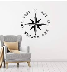 Vinyl Wall Decal Nautical Compass Rose Inspiration Quote Motivating Ph Wallstickers4you