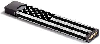 Amazon Com Skin Decal Vinyl Wrap For Juul Vape Stickers Skins Cover Black White Grunge Flag Usa America