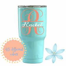 Yeti Decal Tumbler Decal For Women Yeti Cup Decal Rtic Decal Ozark Trail Decal Monogram Decal Initial Decals For Yeti Cups Rtic Cup Designs Monogram Cups