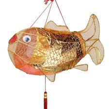 Creative Kids Room Home Decor Carp Shape Hanging Lantern Decorative Cloth Lantern Lampshade Wish