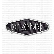 From 4 50 Buy Def Leppard Rock Heavy Metal Band Black Sticker At Print Plus In Stickers Movie Music At Print Plus
