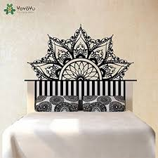 Fashion Bed Decoration Headboard Wall Sticker Half Mandal Https Www Amazon Com Dp B079cjk7ly Ref Cm Sw R Pi Awdb T Decal Wall Art Headboard Wall Bed Decor