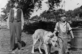 Tommy Kirk and Kevin Corcoran in Old Yeller and Yeller 24x36 ...