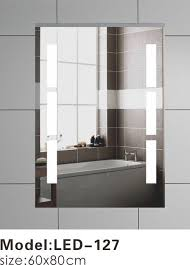 wall mounted touch led bathroom mirror