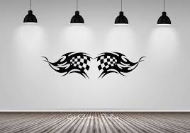 Checkered Flag Wall Decal Checkered Decal Racing Wall Decal Sports Car Decal Race Decal Motorsports Decal Racing Flag Sticker Racing Sticker Sports Wall Decals Wall Decals Racing Stickers