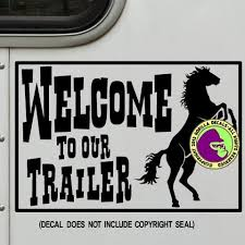 Welcome To Our Trailer Lq Rv Vinyl Decal Sticker Gorilla Decals
