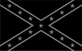 Black And Gray Confederate Flag Decal Sticker 26