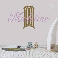 Amazon Com Girl S Custom Name And Initial Wall Decal Choose Your Own Name Initial And Letter Styles Multiple Sizes Girl S Nursery Personalized Custom Name Wall Decals Personalized Name Wall Decal Handmade