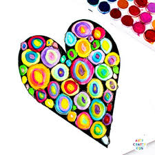 kandinsky heart art project arty