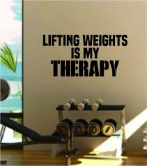 Lifting Weights Is My Therapy Decal Sticker Wall Vinyl Art Wall Bedroo Boop Decals