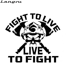 Langru Car Stying Fight To Live To Fight Vinyl Decal Medic Car Styling Sticker Accessories Decorative Jdm Car Styling Stickers Car Stylingjdm Style Aliexpress