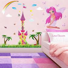 Princess Castle Fairy Wall Stickers Animal Nursery Baby Girls Room Decal Art Ebay