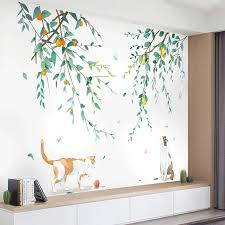 Tree Branch Wall Stickers For Living Room Bedroom Lovely Cat Vinyl Wall Decal Eco Friendly Wall Mural Removable Home Decoration Wall Stickers Aliexpress