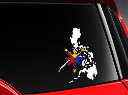 Filipino Philippine Flag Vinyl Car Decal Sticker 7 5w Etsy