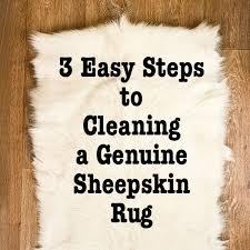 cleaning a genuine sheepskin rug