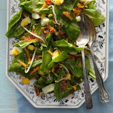 Spinach Salad with Rhubarb Dressing Recipe | Taste of Home