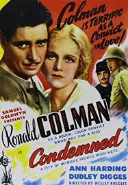 Amazon.com: Condemned: Ronald Colman, Ann Harding, Dudley Digges, Louis  Wolheim, Wesley Ruggles: Movies & TV