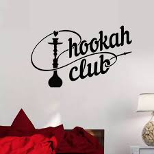Hookah Shop Wall Sticker Car Decal Vinyl Stickers Decor Mural Art Living Room Home Decoration Shisha Smoking Smoke Wall Decal Wall Stickers Aliexpress