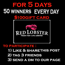 Red Lobster Gift CARD ...