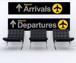 Wall Graphic Decal Sticker Airport Arrival Departure Sign 879 Stickerbrand