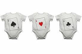 aces baby vests set of 3 bodysuits
