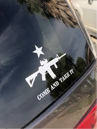 Ar 15 Come And Take It Star Decal Sticker Military 2a Second Etsy