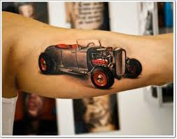 car and motorcycle tattoo designs