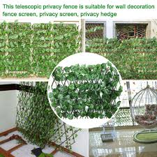 Han Garden Green Vine Fence Privacy Hedge Screen Telescopic Privacy Fence Suitable For Outdoor Indoor Garden Fence Backyard Shopee Philippines