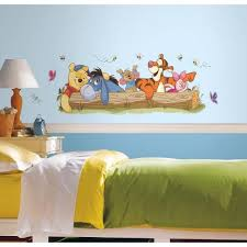 York Wallcoverings 5 In X 19 In Winnie The Pooh Outdoor Fun Peel And Stick Giant Wall Decal Rmk2553gm The Home Depot