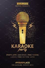 Karaoke Night Party Flyer En 2020 Con Imagenes Invitaciones