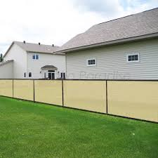 Ifenceview 4x5 To 4x50 Black Shade Cloth Fence Privacy Screen Fence Cover Mesh Net For Construction