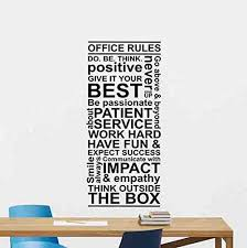 Amazon Com Office Rules Wall Decal Teamwork Quote Sign Motivational Gift Inspirational Lettering Word Cloud Vinyl Sticker Print Business Wall Art Room Design Modern Bedroom Art Decor Poster Custom Mural 97bar Home