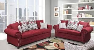 home run red sofa set harmony