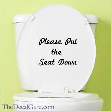 Keep Seat Down Decal Toilet Decal The Decal Guru