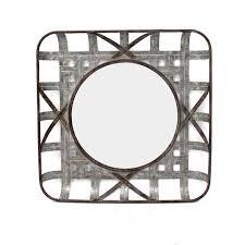 square antiqued galvanized metal