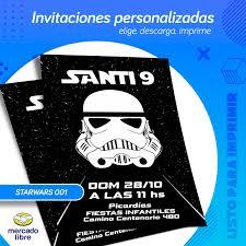Invitacion Personalizada De Star Wars Listo Para Imprimir 99