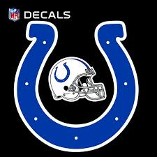 Amazon Com Colts 12 Logo Decal With Bonus Decal Flat Vinyl Reusable Repositionable Auto Home Football Kitchen Dining