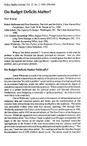 Do Budget Deficits Matter?