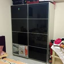 glass panel sliding door wardrobe