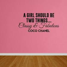 Wall Decal Quote Classy And Fabulous Coco Chanel Wall Lettering Quote Sticker Dp103 Walmart Com Walmart Com