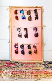 sunglass holder easy diy wall