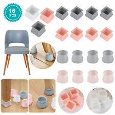 8 16pcs silicone chair leg caps feet