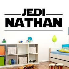 Custom Star Wars Wall Decal Name Sticker Vinyl Silhouette Logo Jedi Custom Name For Boys Room Star Wars Wall Decal Star Wars Boys Room Star Wars Wall Sticker